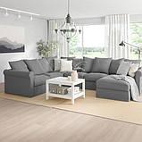 GRÖNLID ГРЕНЛІД Кутовий диван, 5-місний - з кушеткою/ЛЬЙУНГЕН класичний сірий - IKEA, фото 2