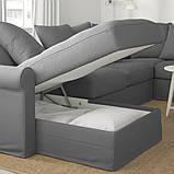 GRÖNLID ГРЕНЛІД Кутовий диван, 5-місний - з кушеткою/ЛЬЙУНГЕН класичний сірий - IKEA, фото 5