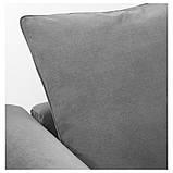 GRÖNLID ГРЕНЛІД Кутовий диван, 5-місний - з кушеткою/ЛЬЙУНГЕН класичний сірий - IKEA, фото 6