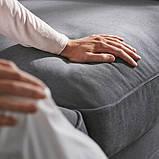 GRÖNLID ГРЕНЛІД Кутовий диван, 5-місний - з кушеткою/ЛЬЙУНГЕН класичний сірий - IKEA, фото 9