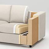 VIMLE ВІМЛЕ Кутовий диван, 5-місний - з кушеткою/ГУННАРЕД класичний сірий - IKEA, фото 8