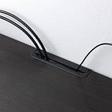 BESTÅ БЕСТО Тумба для телевізора з шухлядами - чорно-коричневий/ХАНВ/СТУББАРП чорно-коричневий прозо, фото 5