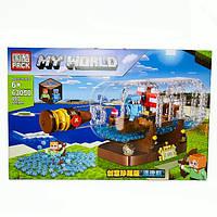 "Конструктор Майнкрафт Minecraft My World 897 шт ""Корабль в бутылке "" Лего Майнкрафт"