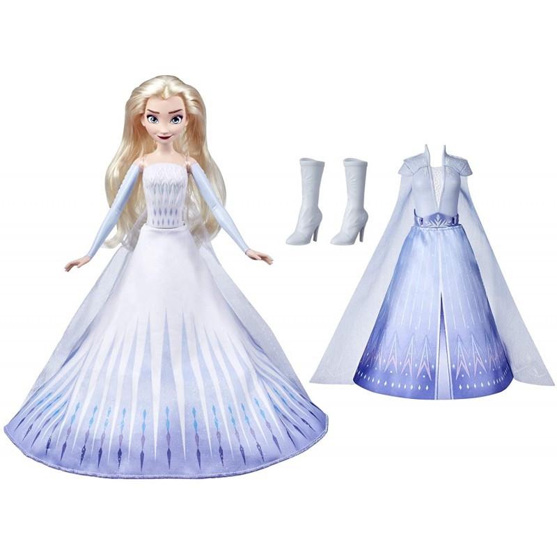 Frozen Холодное сердце 2 Кукла Принцесса Дисней Волшебное превращение, Эльза, 28 см Hasbro E9420