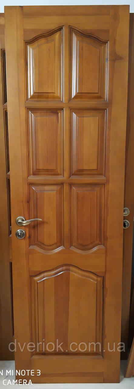 Дверной блок глухой 600*1950 (натуральное дерево)