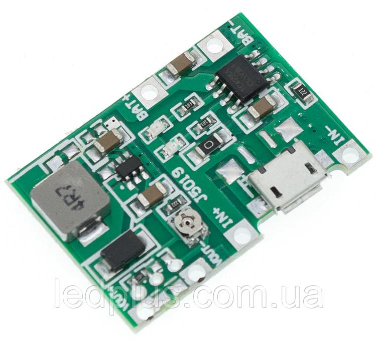 Модуль зарядки TP4056 с повышающим преобразователем J5019