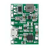 Модуль зарядки TP4056 с повышающим преобразователем J5019, фото 3