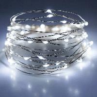 Гирлянда Роса, на батарейках, 5 м | Светодиодная гирлянда на  медной проволоке, белый свет