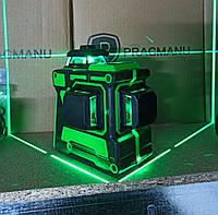 Pracmanu 3d лазерный уровень 360. 12 линий зелёный луч. (Hilda, Xeast)