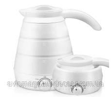 Чайник 220В 650мл /Складной/Силиконовый/ SmartTech Foldable Kettle W-013