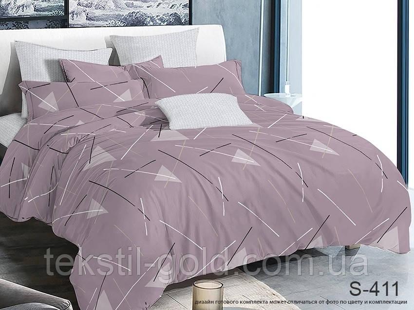 Евро комплект постельного белья с компаньоном S411 ТМ TAG сатин