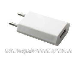 "Адаптер 220v 1 USB   500mA Плоский ""Iphone"" C11 White"