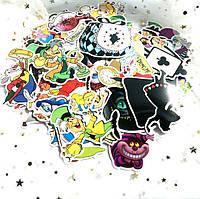 Набор виниловых наклеек стикеров Стикерпак Алиса в стране чудес стикербомбинг на авто ноутбук стену 70 шт