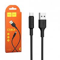 """Кабель  USB  для  Iphone-5 /6 """" HOCO X25 Flash lightning 1 м Black"""