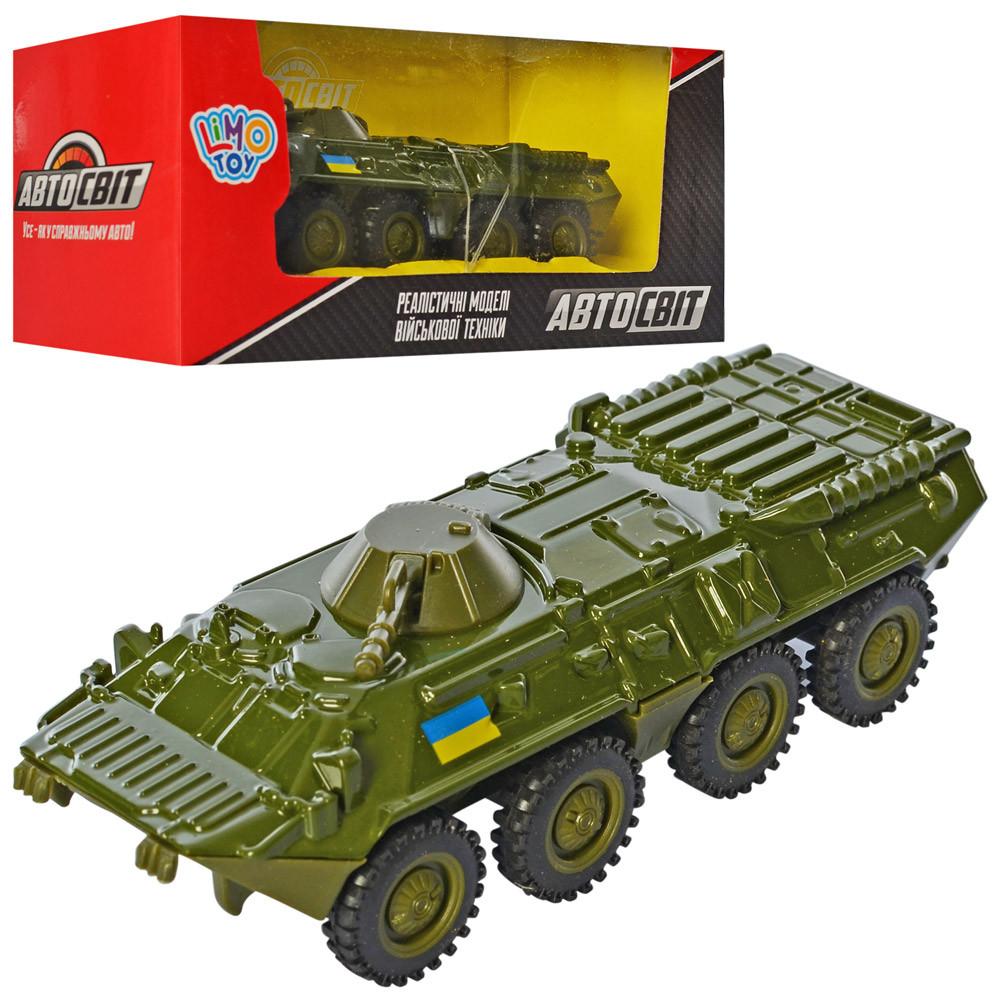 Танк AS-2769 (60шт) АвтоСвіт, металл, инер-й, БТР 12см,рез.колеса, в кор-ке,16,5-7-6см