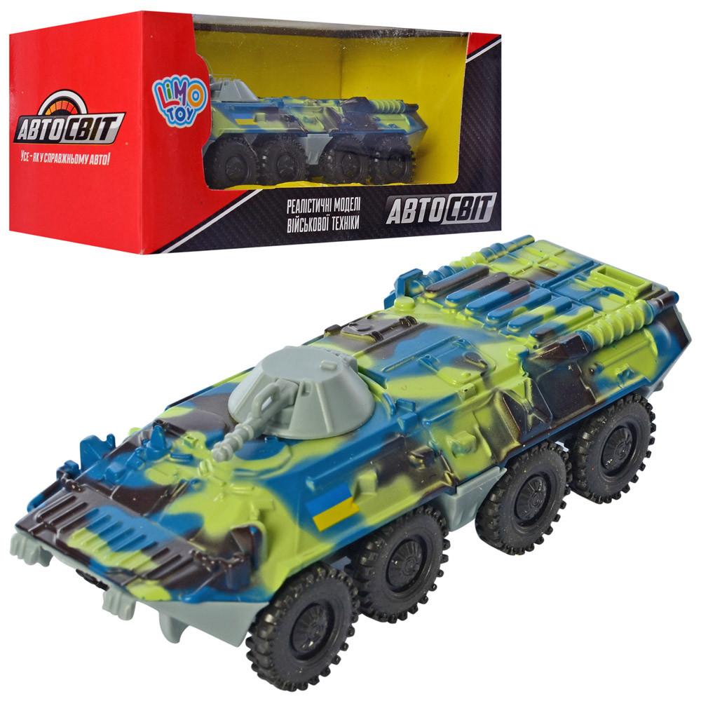 Танк AS-2768 (60шт) АвтоСвіт, металл, инер-й, БТР 12см,рез.колеса, в кор-ке,16,5-7-6см