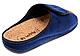 Женские домашние шлёпанцы Inblu DH3J ортопедические полномерные .синий велюр, фото 3