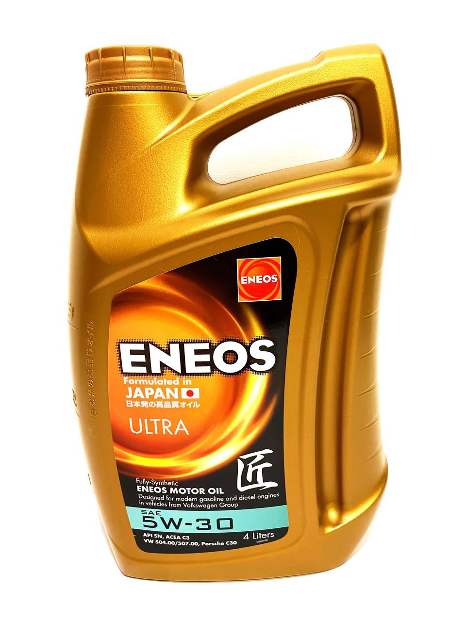 Синтетическое моторное масло ENEOS ULTRA 5W-30, 4л