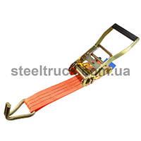 Механизм стяжки 3т + крюк10мм сварной +лента50мм полиэстер(100гр/м)