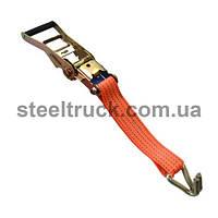 Механизм стяжки 5т + крюк12мм сварной +лента50мм полиэстер(100гр/м)