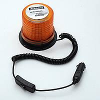 Мигалка-сирена 12/24V оранжевая  EL 101 504 (30 LED 2835 SMD) (прикурка/магнит/выключатель)
