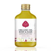 """Масло для тела и волос """"Миндаль и сандаловое дерево"""" органическое, 100 мл Eliah Sahil"""