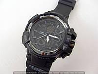 Часы Casio G-Shock 013531 мужские черные с серым водонепроницаемые противоударные