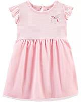 Нарядное летнее платье с пышной юбочкой Единорожек Картерс для девочки, фото 1
