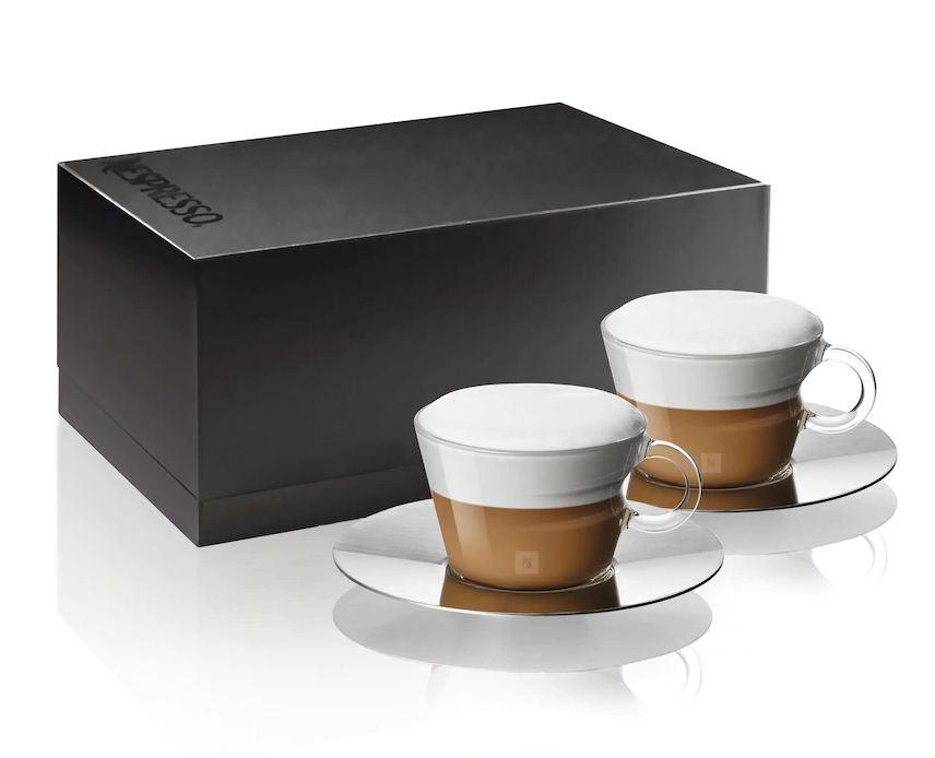 Стаканчик+Трафаретка Nespresso View Cuppuccino Cup & Sauccer + Stencil (1 шт *180 мл)
