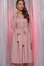 Жіноче пудровое сукня з паєтками Євангеліна д/р S