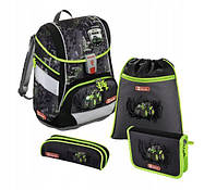 Шкільний рюкзак для хлопчиків HAMA Step By Step Green Tractor + 2 пенала + сумка для спортивного взуття