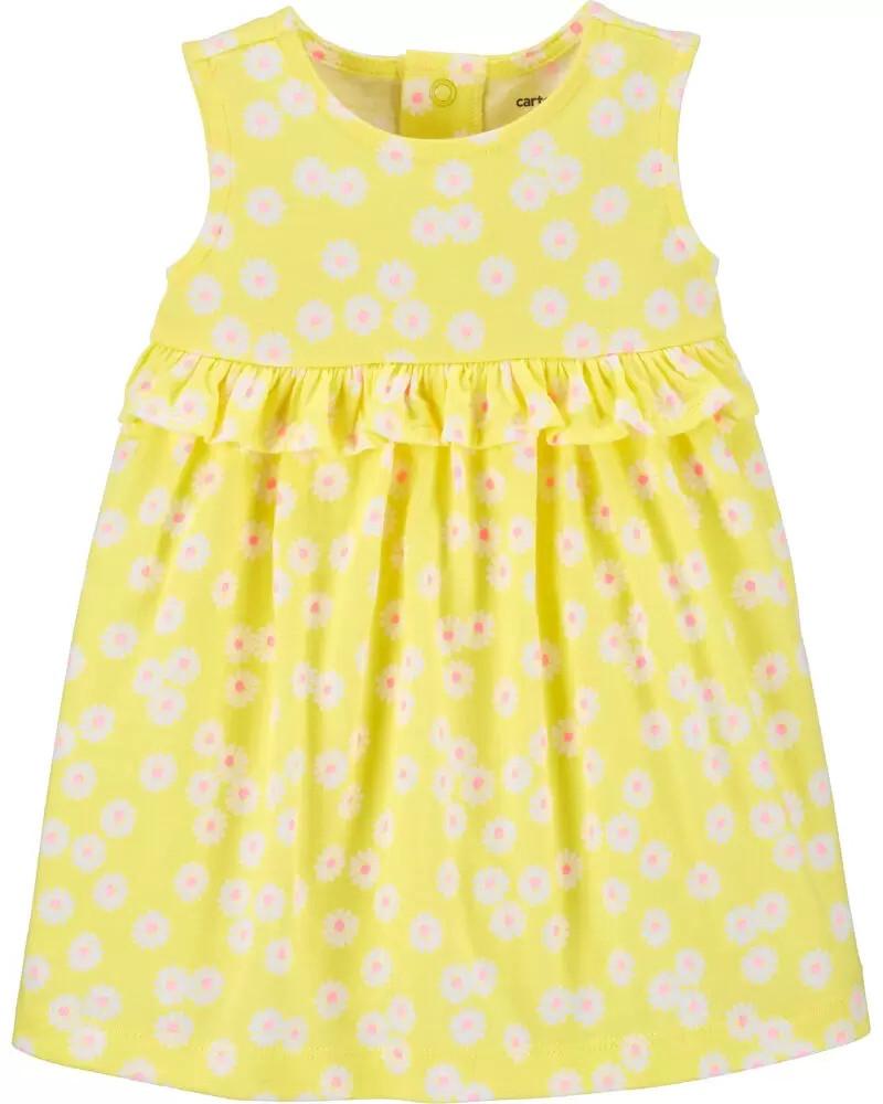 Очаровательное яркое платье с рюшами Цветочки Картерс для девочки