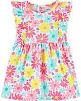 Очаровательное хлопковое платье с рюшами Картерс для девочки, фото 1