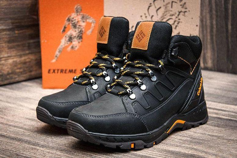 Чоловічі зимові черевики шкіряні