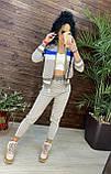 Женский брендовый вязаный костюм с логотипами, в розовом цвете, р.42/46, фото 7