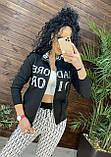 Женский брендовый вязаный костюм с логотипом, в сером цвете, р.42/46, фото 7