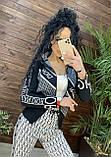 Женский вязаный костюм Диор, в белом цвете, р.42/46, фото 2