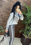 Женский вязаный костюм Диор, в белом цвете, р.42/46, фото 9
