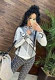 Женский вязаный костюм Диор, в черном цвете, р.42/46, фото 2