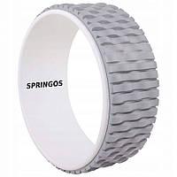 Колесо для йоги и фитнеса Springos Dharma FA0205 Grey/White, фото 1