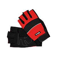 Перчатки рабочие с открытыми пальцами Yato YT-74662 черно-красные