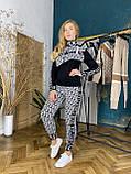 Женский вязаный костюм Диор, в черном цвете, р.42/46, фото 3