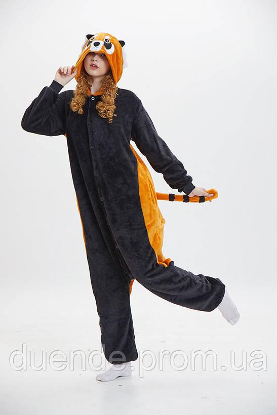 Кигуруми пижама Енот, кигуруми Енот для взрослых / Kig - 0026