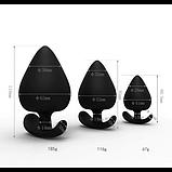 Анальная пробка силиконовая черная XL, фото 3