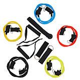 Набор трубчатых многофункциональных эспандеров 5 шт SportVida 4-22 кг SV-HK0351, фото 3