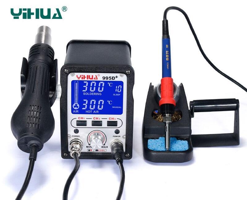 YIHUA-995D+ ремонтная паяльная станция 2 в 1