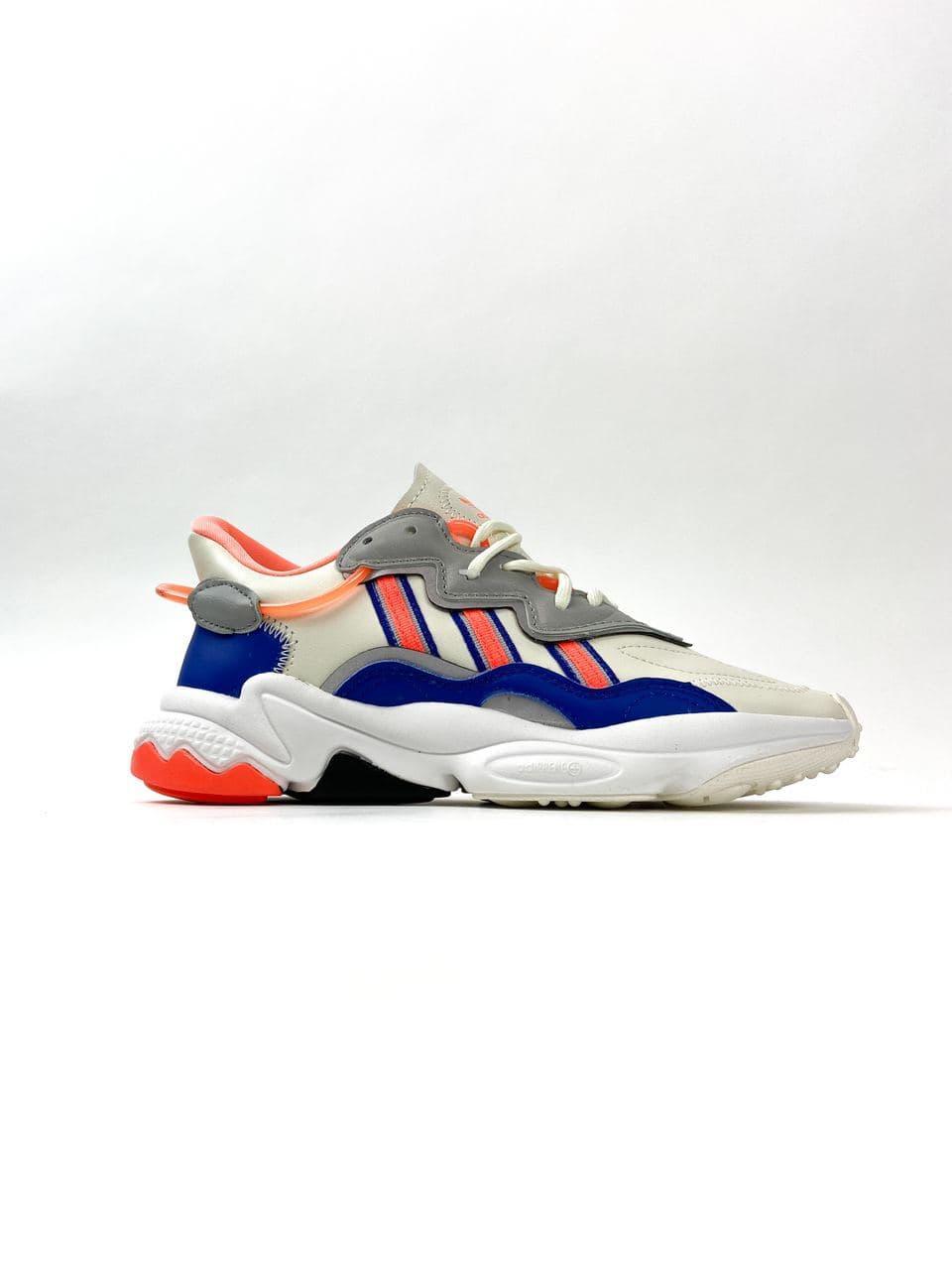 Adidas Ozweego Gray Red Blue (Бежевый)