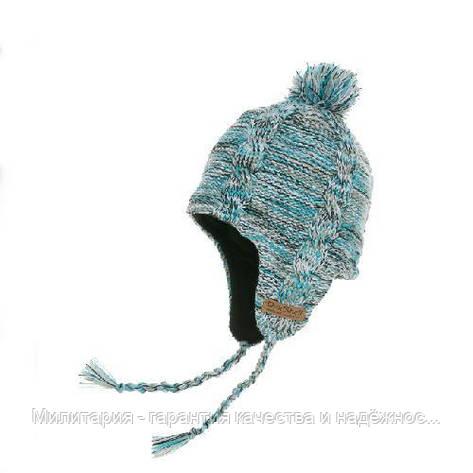 Шапка водонепроникна Dexshell з вухами, блакитна, фото 2