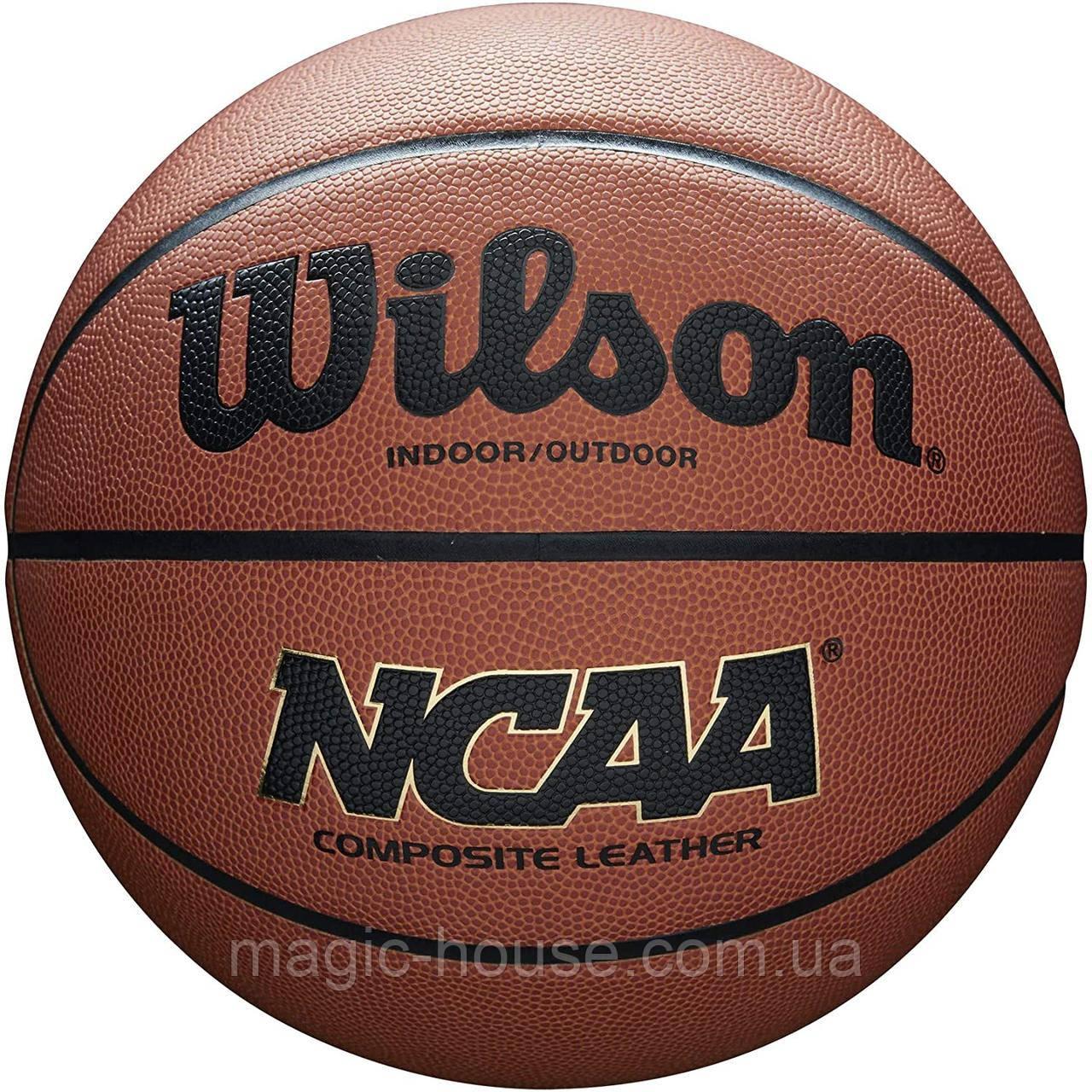 М'яч баскетбольний Wilson NCAA Composite Basketball оригінал розмір 7 композитна шкіра