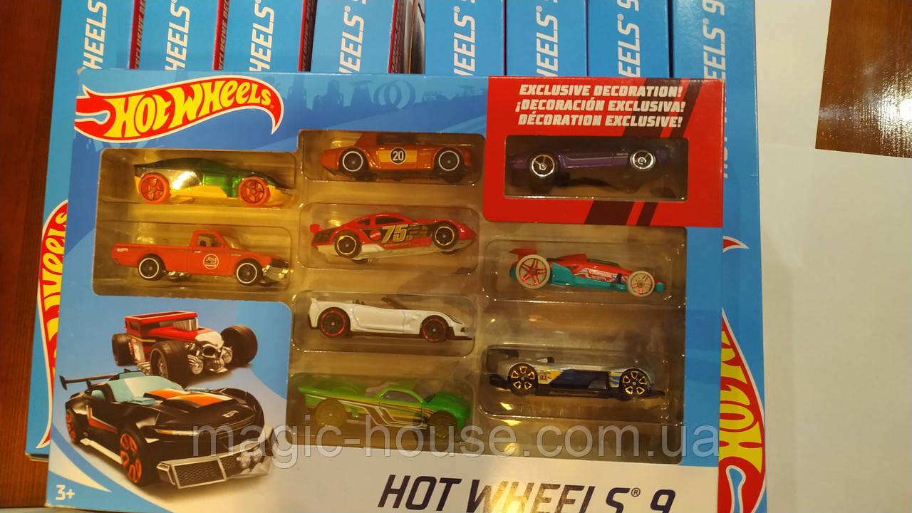 Хот Вілс Набір з 9 машинок Hot Wheels Оригінал від MATTEL
